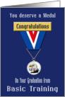 Congratulations Basic Training Graduation, Eagle - USA Medal card