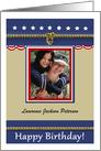 Military Patriotic Birthday - Photo, Custom Name card