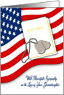 Military Sympathy for Loss of Granddaughter - American Flag, Bible card