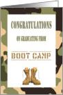 Congratulations Boot Camp Graduation - Camo & Combat boots card