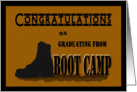 Congratulations Military Boot Camp Graduation - Silhouetted Boot card
