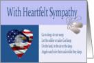 Military Sympathy Condolence Card