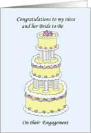 Congratulations Niece and Bride to Be on engagement. card