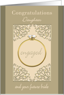 Engagement Congratulations for Daughter & Future Bride card