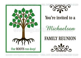 Custom Family Reunion Invitation   Family Tree Greeting Card