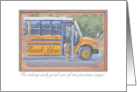School Bus Driver Thank You card
