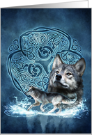 Celtic Wolf card