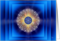 Sacred Blue Geometry 166 Blank Note Card