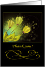 Thank you card with golden flowers card