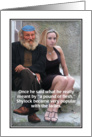 Jewish Humor Shylock Pound of Flesh Valentine's Day Card