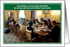 Jewish humor Elijah White House Seder Passover Card
