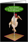 Chicken Pole Dancer Barnyard Cockpit Funny Valentine's Day Card