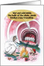 Jewish Humor Jonah Whale Funny Biblical Bat Mitzvah Invitation card