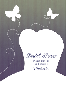 Bridal Gown Silhouette Customizable Bridal Shower Invitation Greeting Card