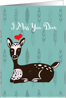Fawn with Heart - I Miss You Deer - Summer Camp card