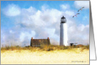 St. George Island Lighthouse blank note card
