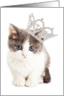 Pretty Princess Kitten Card