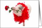 Hog You To Myself Valentine's Day Card