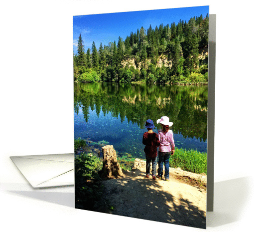 Boy and girl standing by a lake in a forest friendship card this card is available for sale through greeting card universe the inside reads seems like each time we see each other we just pick up where we left off m4hsunfo