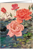 Roses for Valentine's Day Painting card